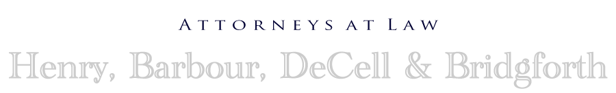 Henry, Barbour, DeCell & Bridgforth:  Attorneys At Law